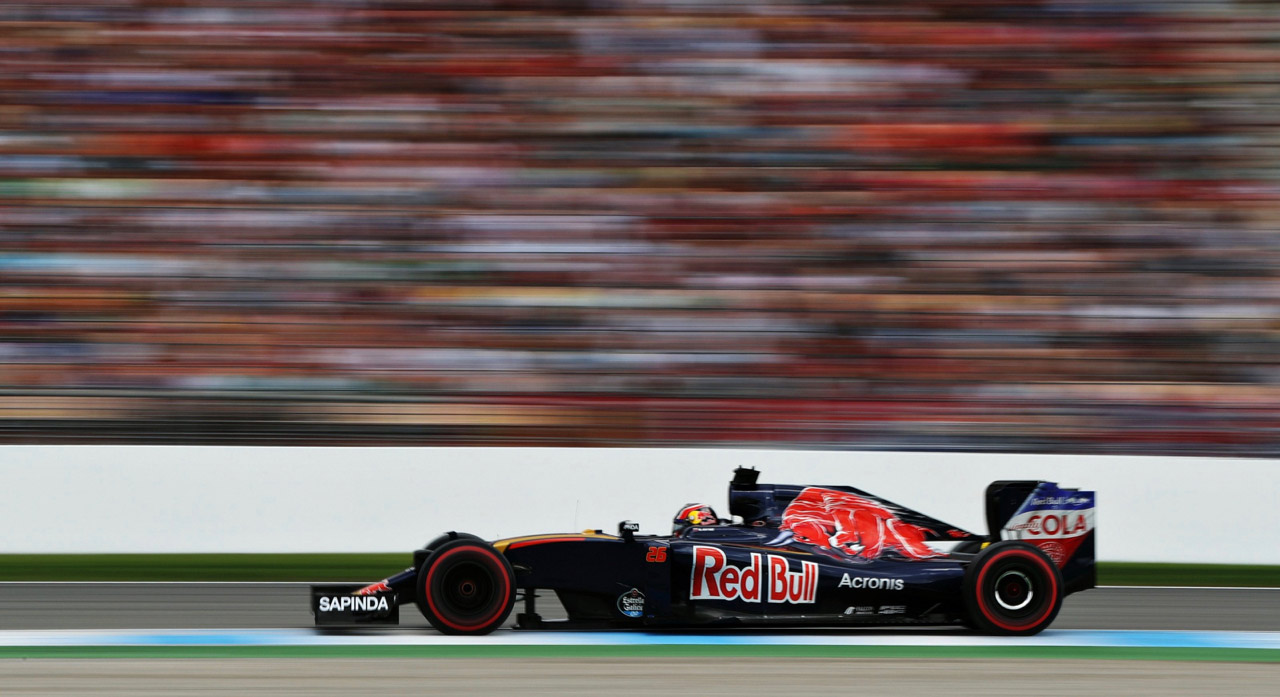 Daniil Kvyat of Scuderia Toro Rosso on track during the German Grand Prix on July 31, 2016