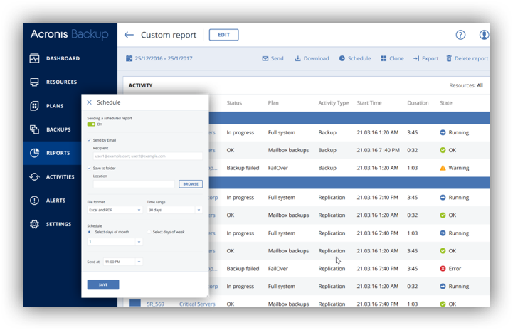 Backup Reporting and Dashboards