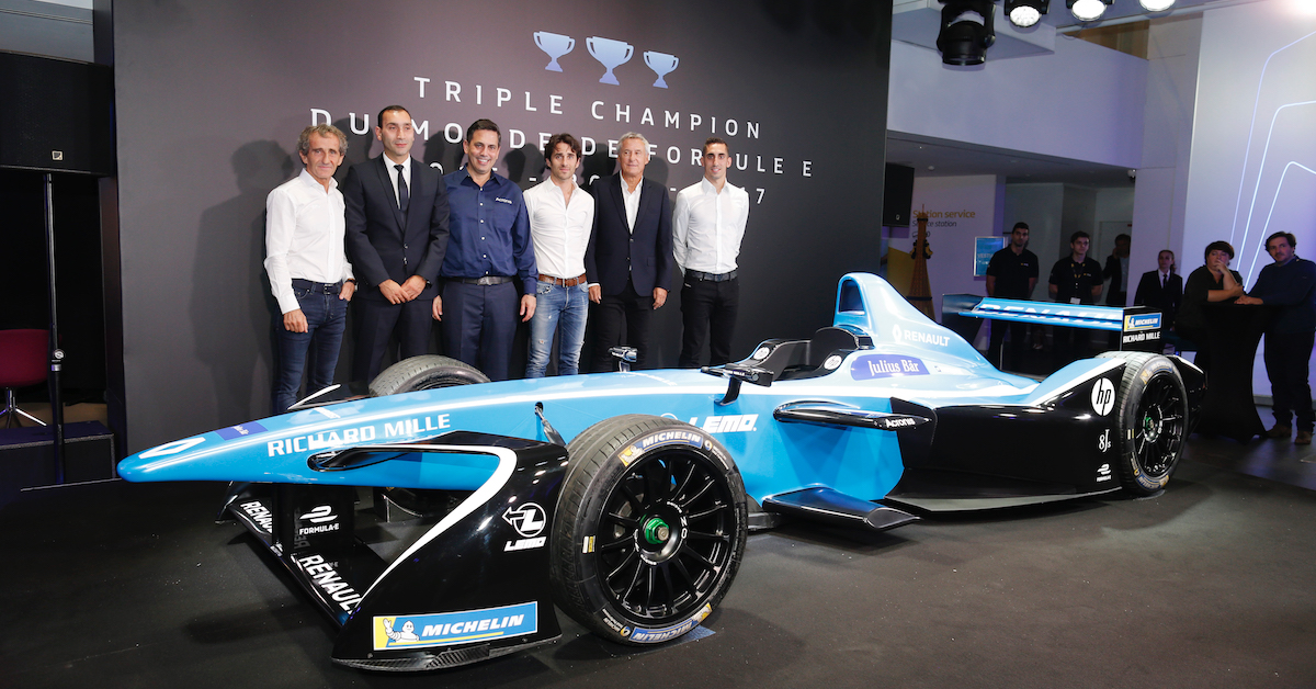 Acronis and Renault e.dams Formula E Team