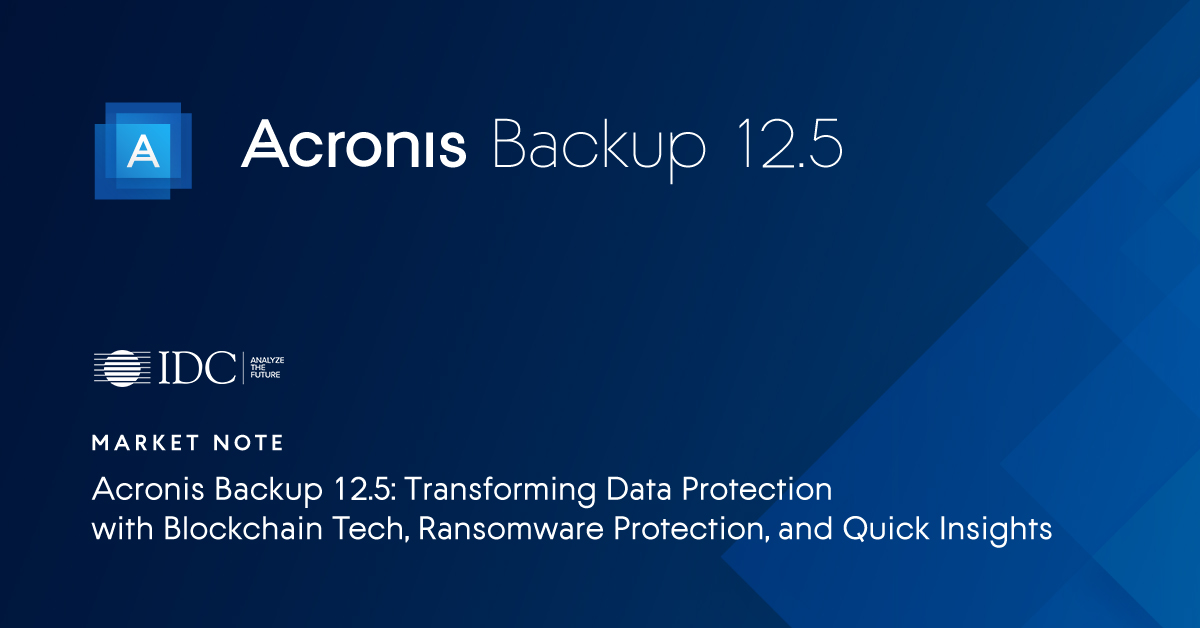 Acronis - IDC Market Note