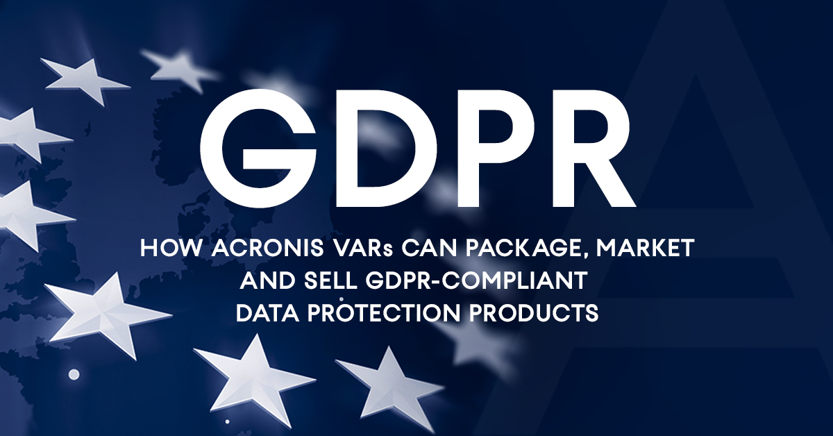 Acronis on GDPR Right to be Forgotten