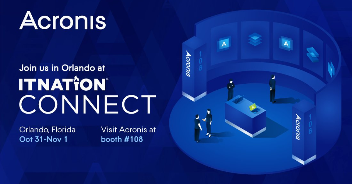 Acronis is at ITNConnect19