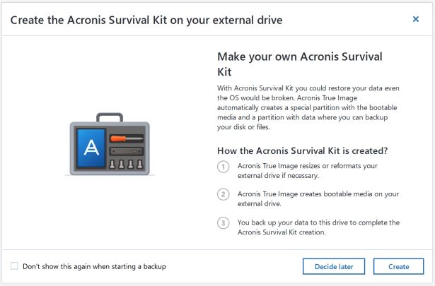 Acronis Survival Kit
