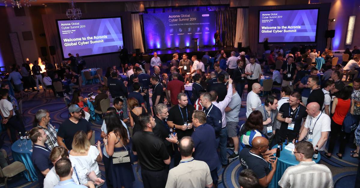 Reception at Acronis Global Cyber Summit