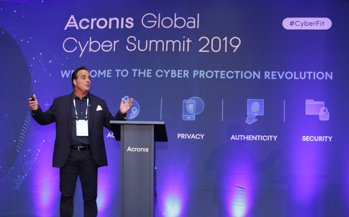 Dan Havens at Acronis Global Cyber Summit