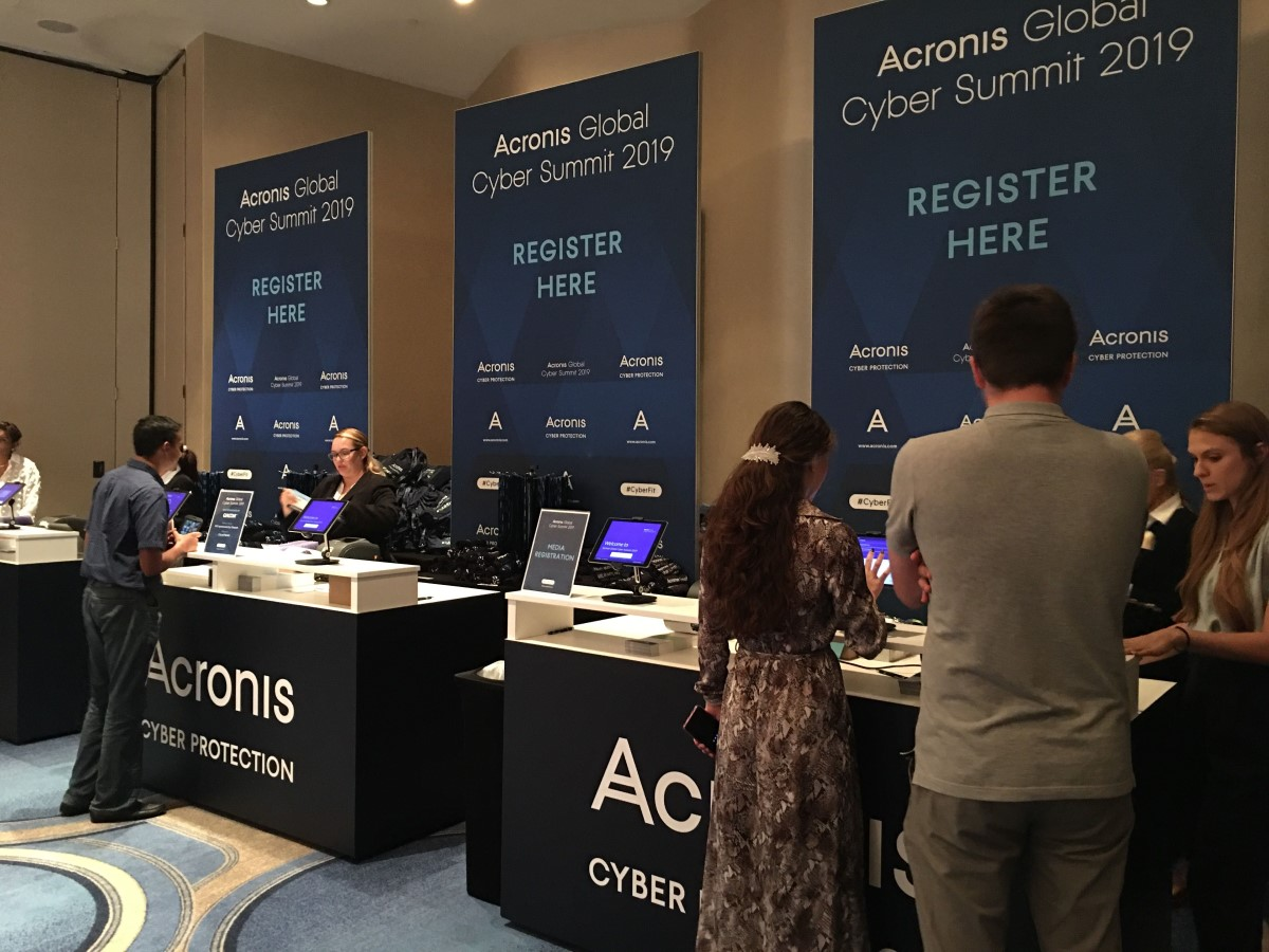 Arrivals at the Acronis Global Cyber Summit