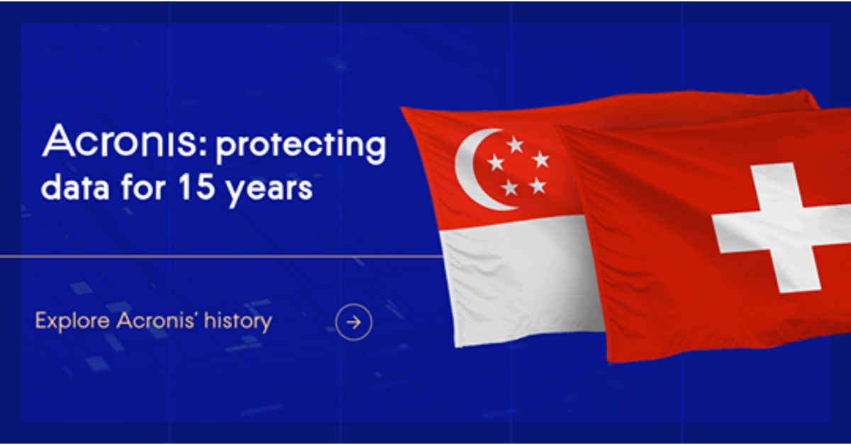 Acronis celebrates 15 years of data protection
