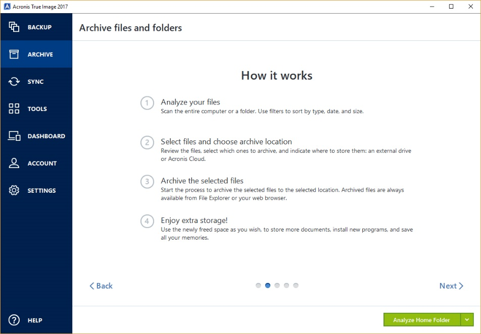 Acronis Archiving - How it works
