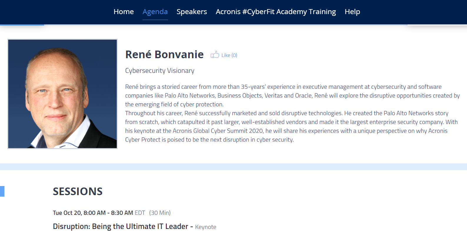 Get a pro perspective of the Summit through the Speaker page