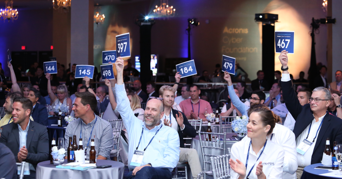 The audience at the Acronis Cyber Foundation Charity Reception