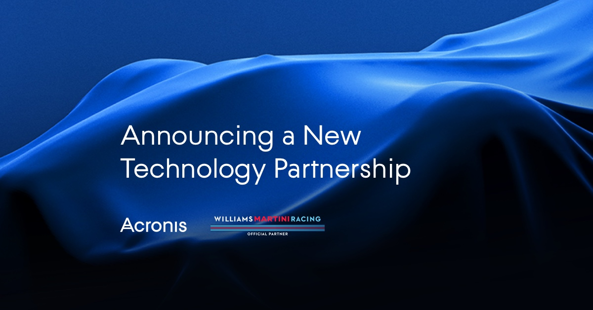 Acronis and Williams Martini Racing Form Partnership