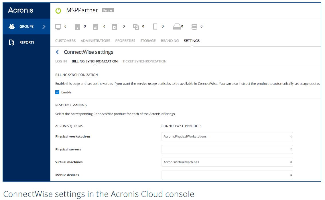 Acronis and ConnectWise integration makes it easy