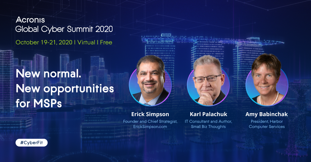 MSP Channel track at the Acronis Global Cyber Summit