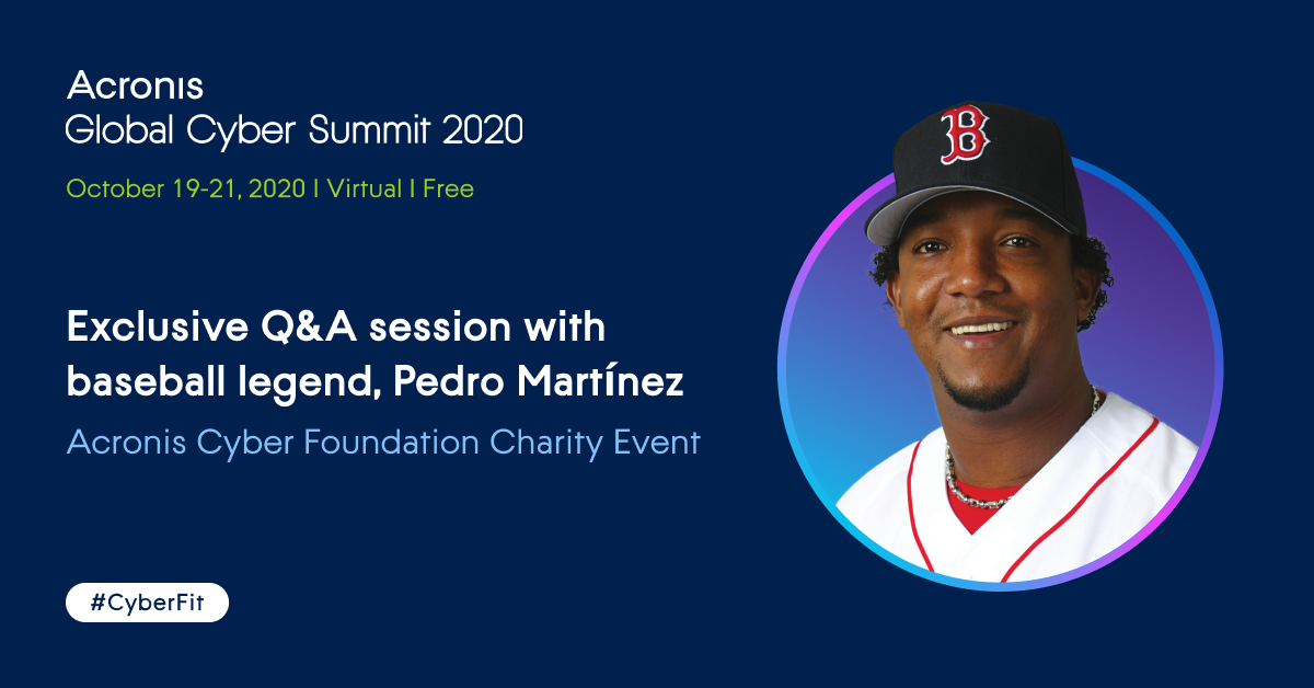 Join Pedro Martinez at the Acronis Cyber Foundation Charity Auction