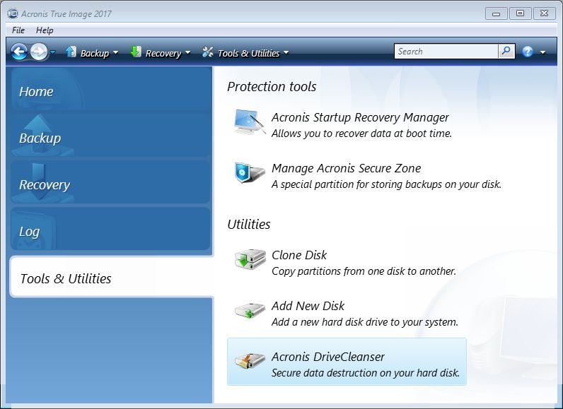 Acronis Drive Cleanser Makes Wiping Old Drives Easy