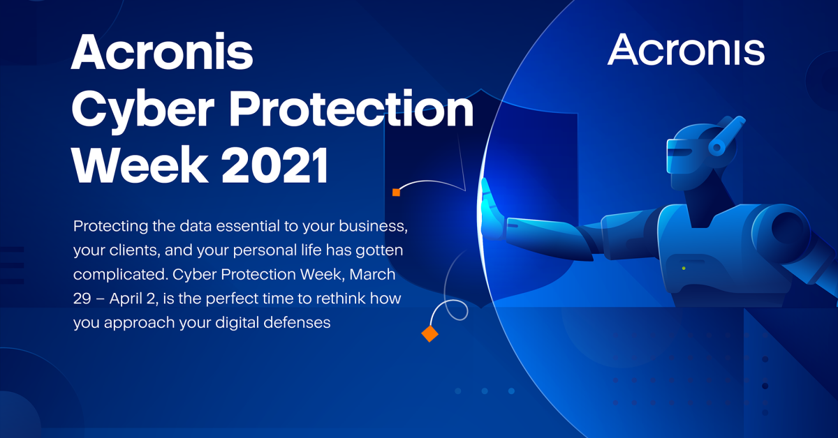 Acronis Cyber Protection Week 2021 infographic