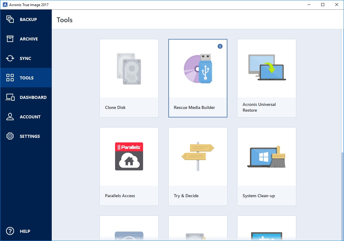 a43 file manager - Recovery Media Builder