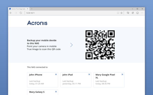 The Easy Way to Back up Your Mobile Device to NAS - Acronis