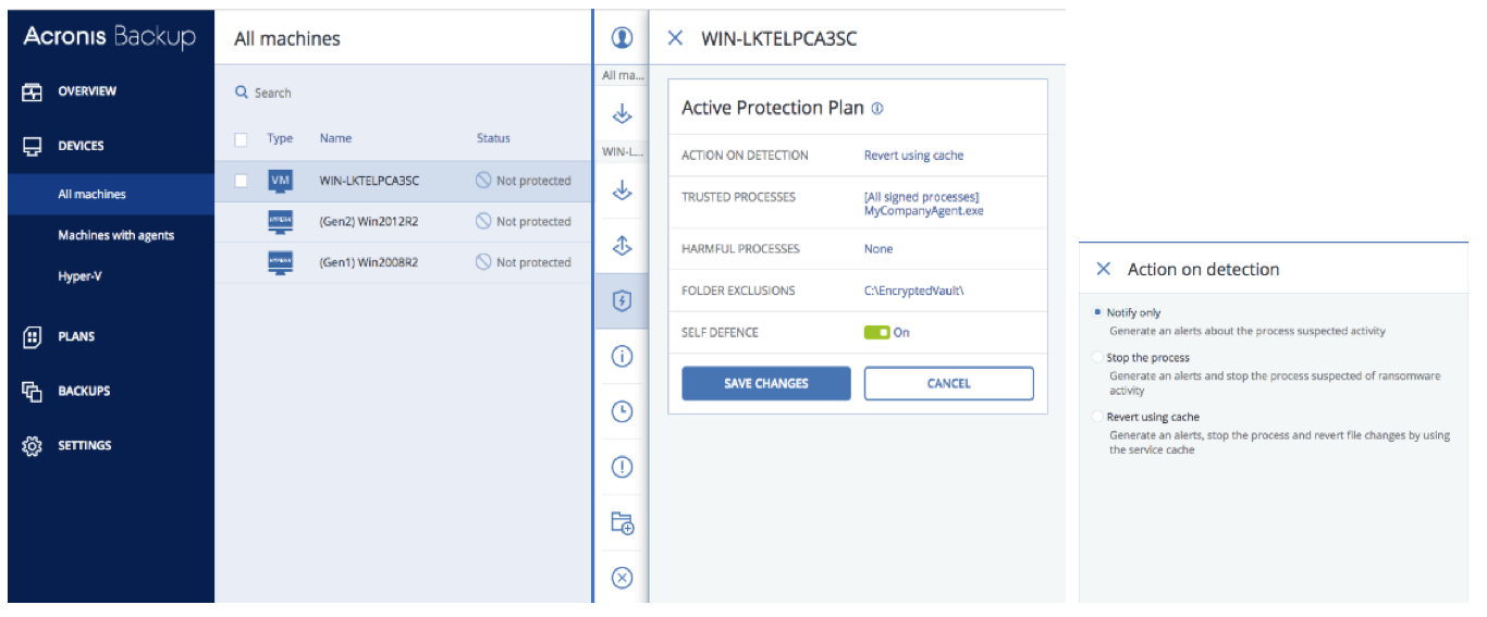 Acronis Backup 12.5 Ransomware protection