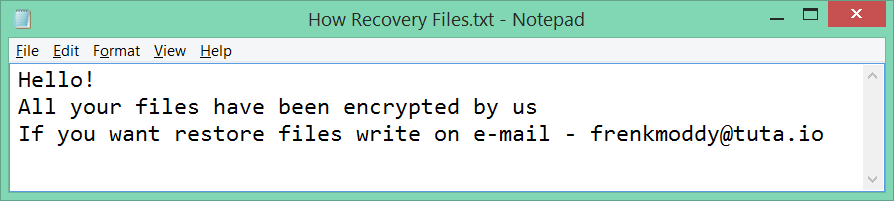 Rapid Ransomware Note