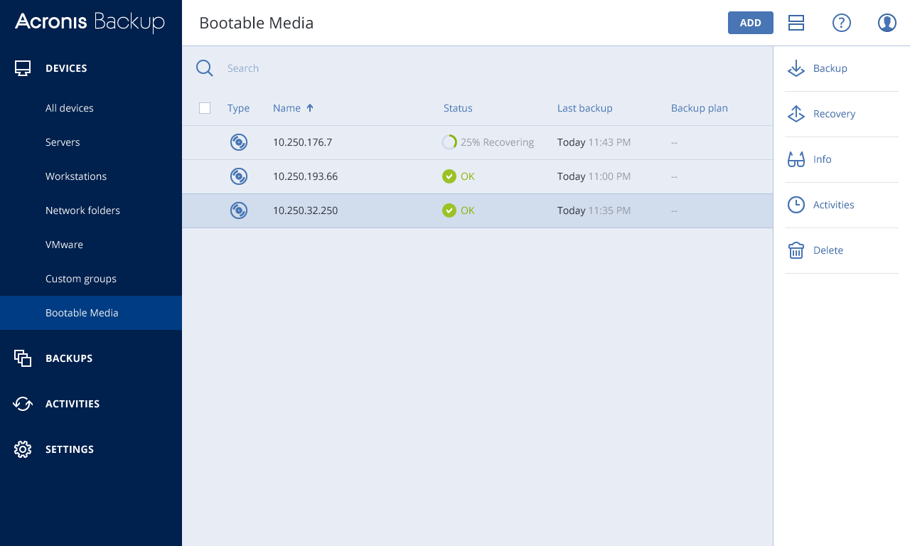 Acronis Backup 12.5 Bootable Media