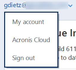 How do you access an Acronis account
