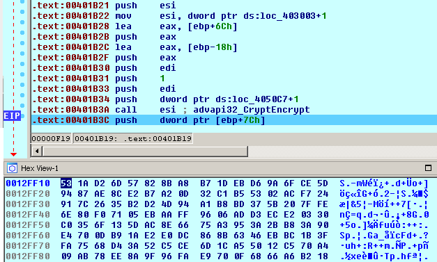 The session AES-256 key is encrypted