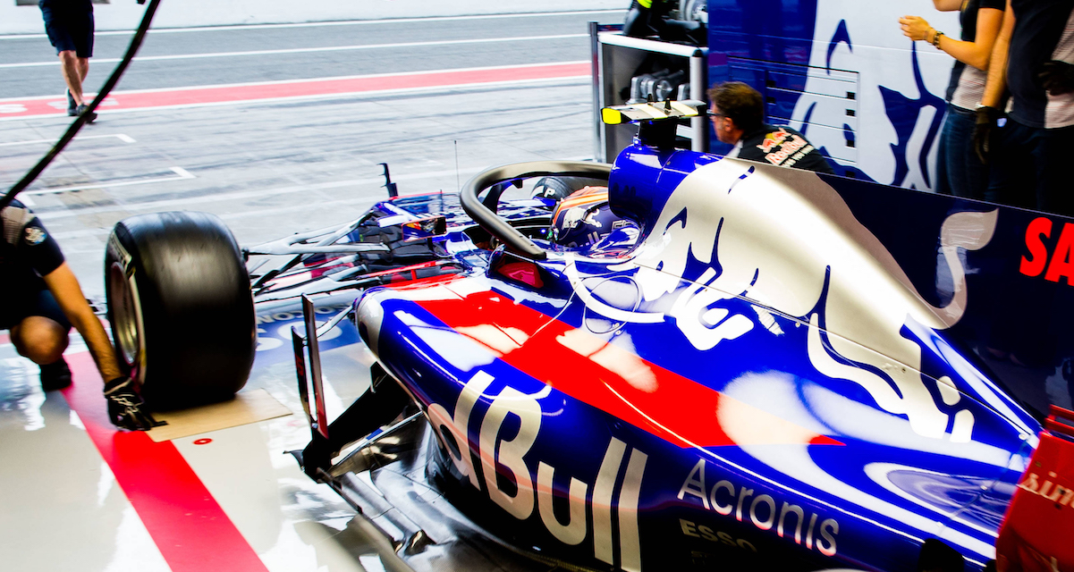 Scuderia Toro Rosso - STR12 with the Halo