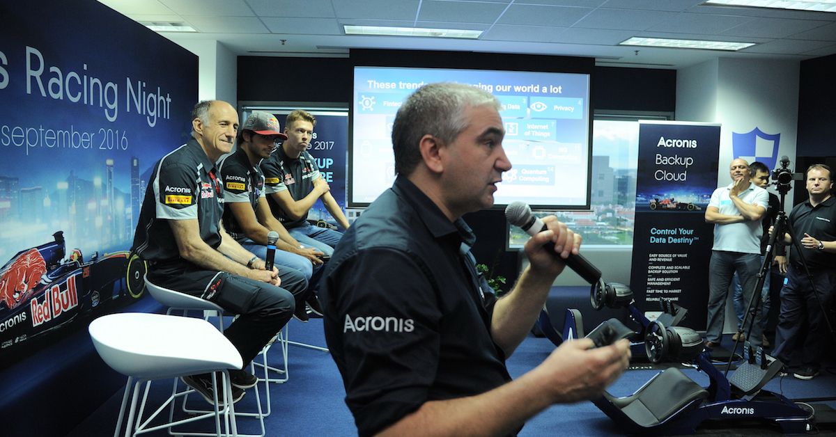 ​Acronis Racing Night at the Acronis International HQ in Singapore
