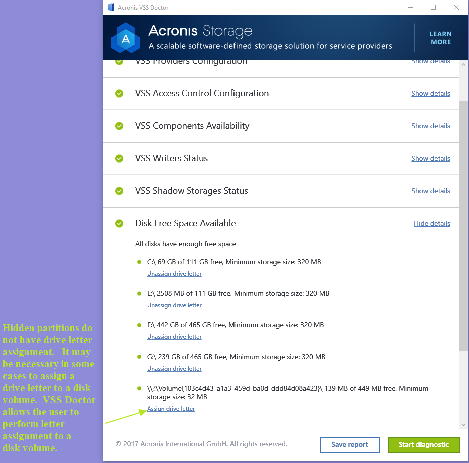 Acronis VSS Doctor Windows 7