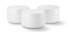 Three units of Google's mesh-router product