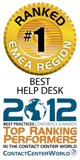 2012 Top Ranking Performers, 1st place in Best Help Desk