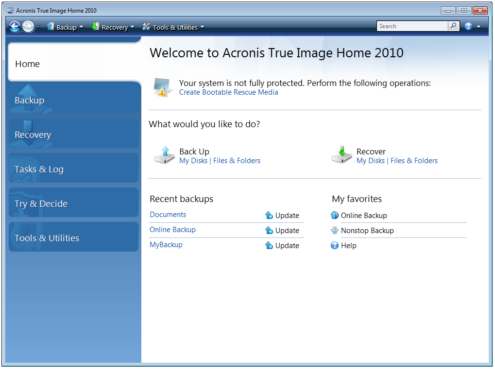 16249 Acronis True Image Home and Windows 7 System Reserved Partition