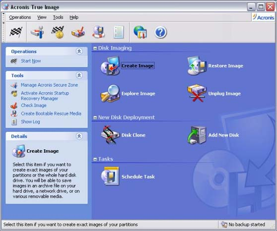 Acronis True Image: software for cloning one hard disk drive to another, that allows to backup ...