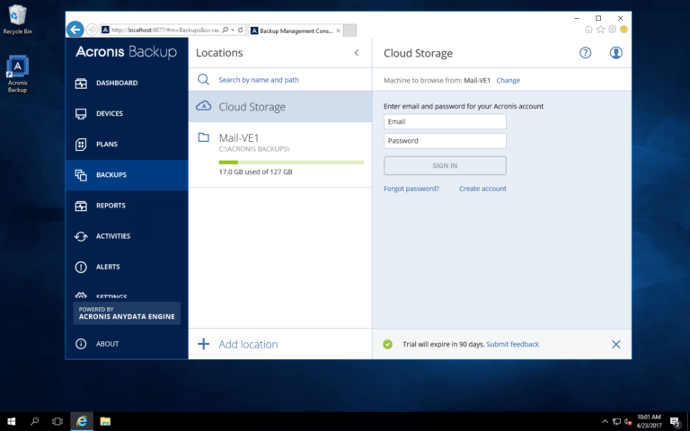 How to Install Acronis Backup 12 5 on a Windows VM