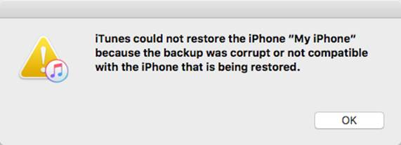 iTunes coul not restore iPhone