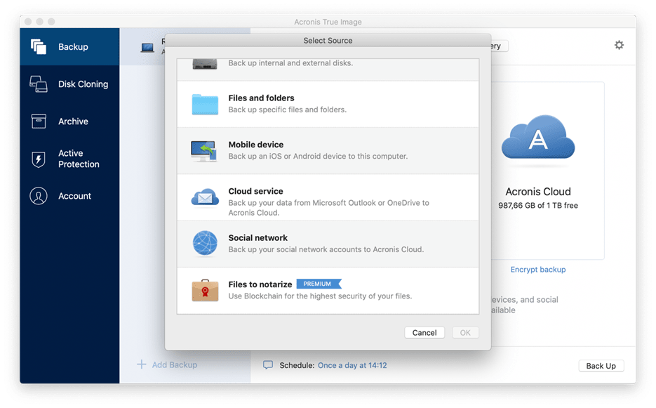 How To Back Up OneDrive Files - Acronis