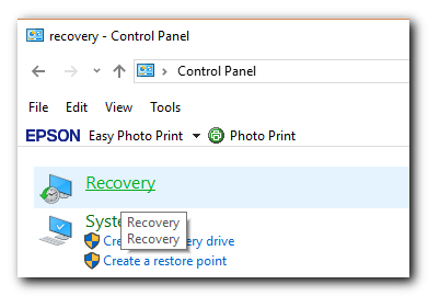 how to find windows recovery