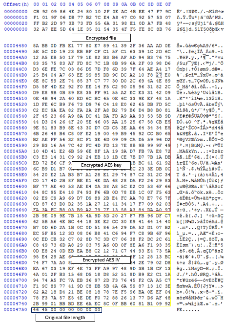 Sample encrypted file
