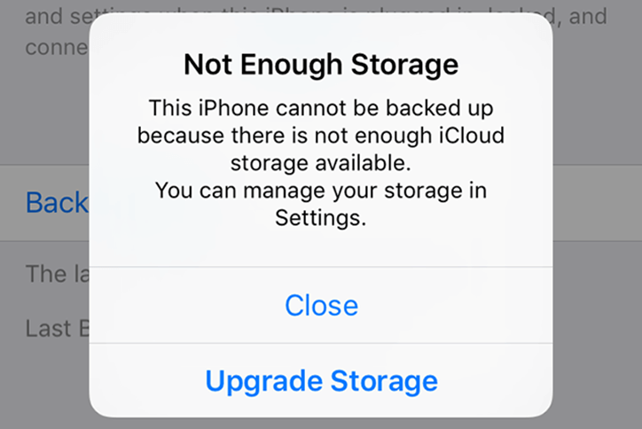 Not enough storage space in iTunes