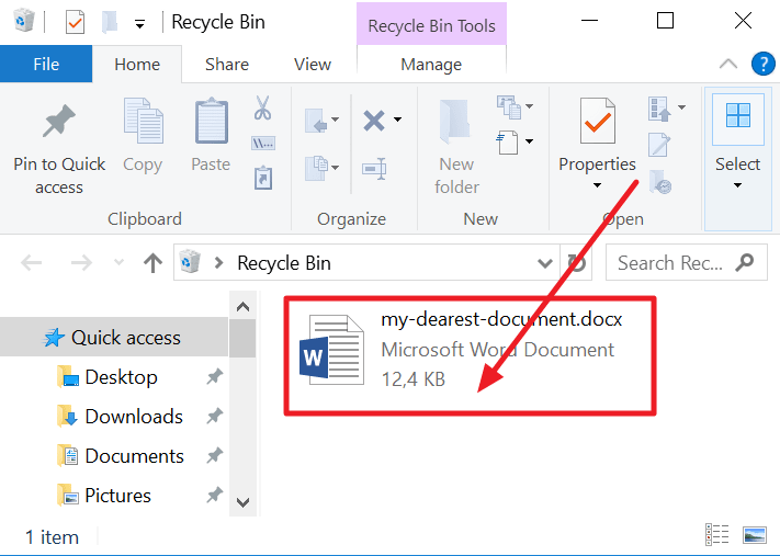 recovering a deleted document min