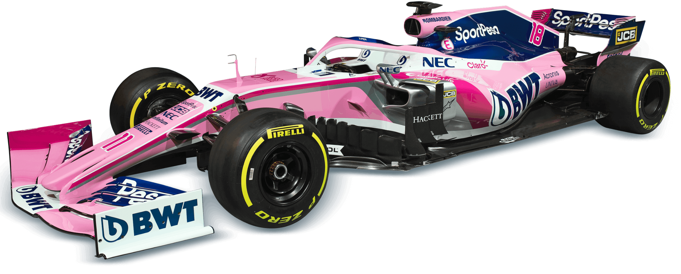 Sportpesa Racing Point F1 Team Acronis Partnership