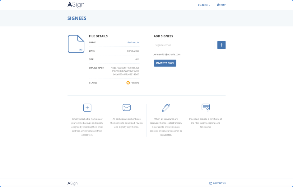 Acronis ASign