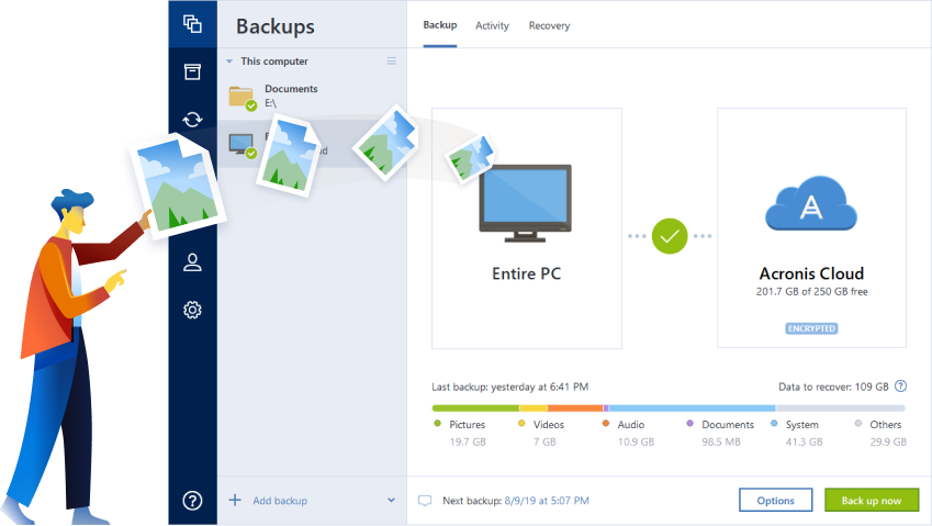 The Best Computer Backup Software - Acronis True Image 2020