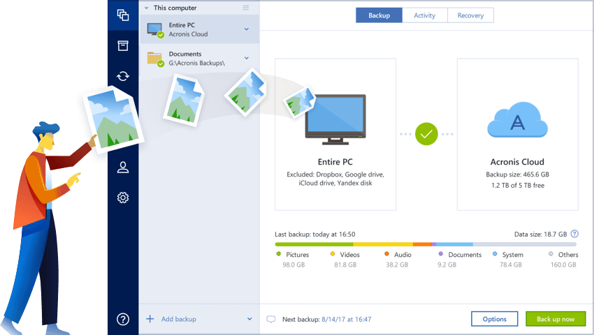 The Best Computer Backup Software - Acronis True Image 2019