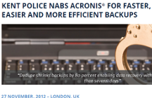 Kent Police Protects 500TB of Data with Backup and Recovery Solution