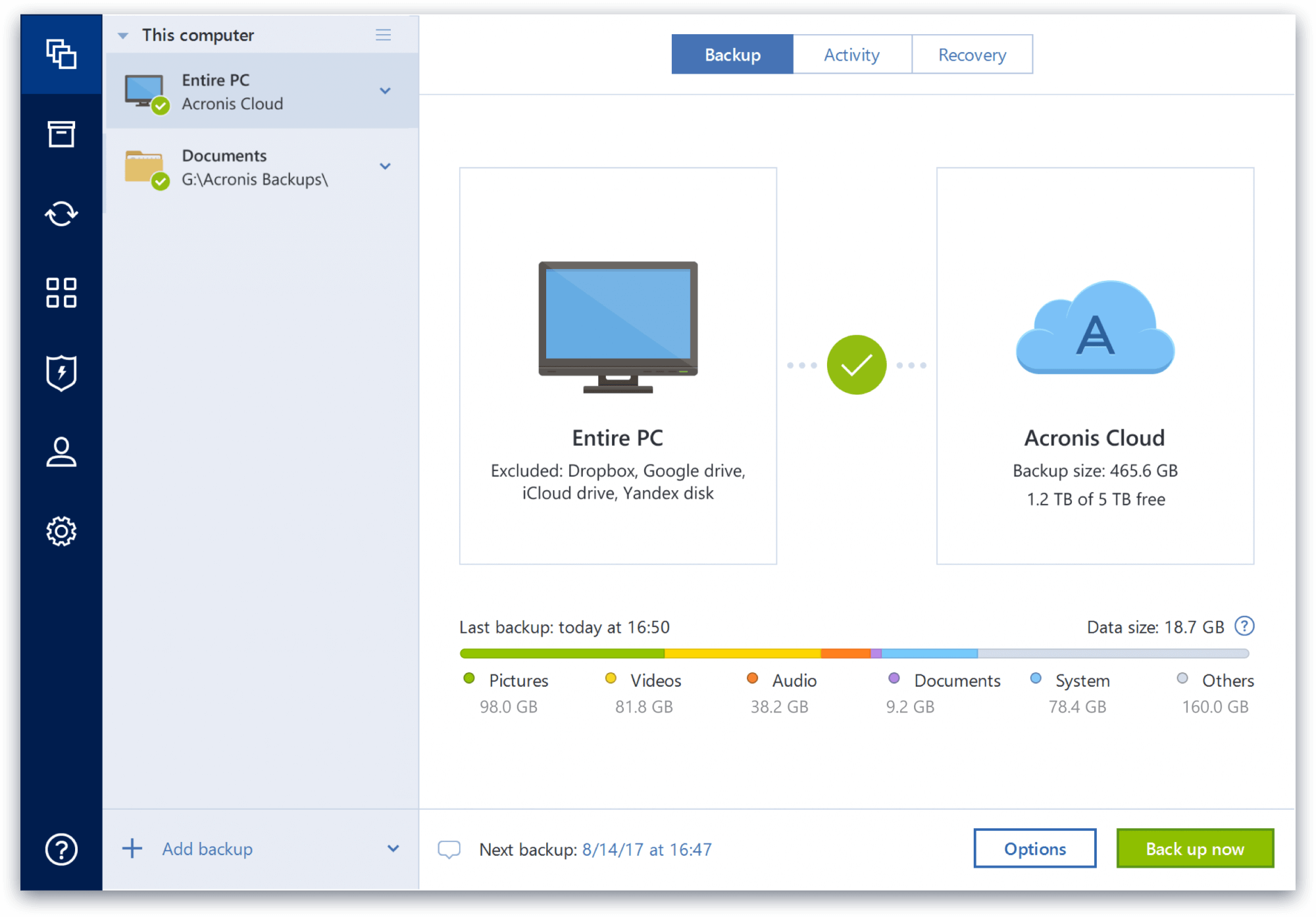Click to view Acronis True Image screenshots