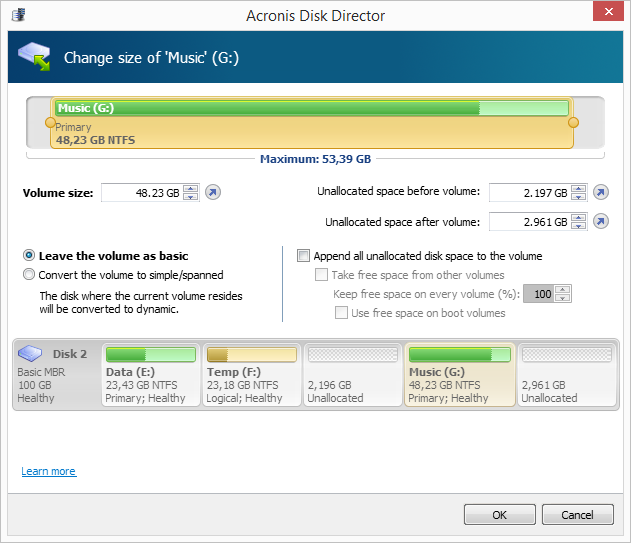 Acronis succeeds in making disk management straightforeard ...