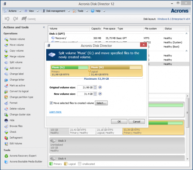 Acronis disk director livecd